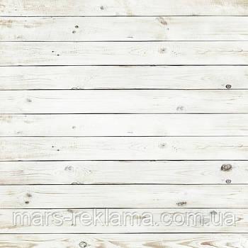 Виниловый фон (фотофон) студийный для предметной съемки. Деревянные доски покрашенные. Белый