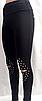 Женские лосины -  оптом - 156-ол - Модные женские лосины с жемчугом и прорезями на коленях, фото 4