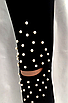 Женские лосины -  оптом - 156-ол - Модные женские лосины с жемчугом и прорезями на коленях, фото 7