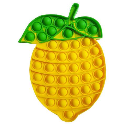 Опт Pop It Антистрес Іграшка - (Поп Іт - Попит - Popit) - Лимон жовтий, фото 2