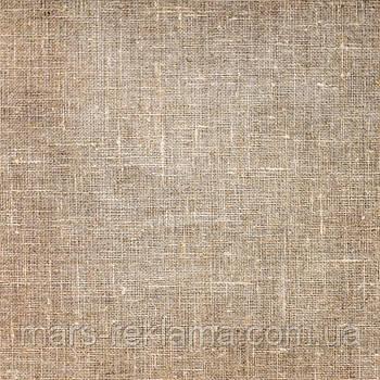 Виниловый фон (фотофон) студийный для предметной съемки.Текстурный, ткань лён хлопок мешковина. Коричневый
