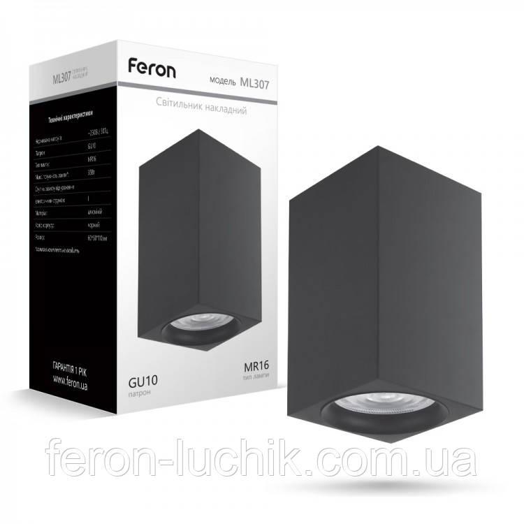 Накладной неповоротный светильник Feron ML307 черный Новинка
