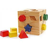 """Деревянная игрушка """"Логический кубик"""" арт. Д014"""