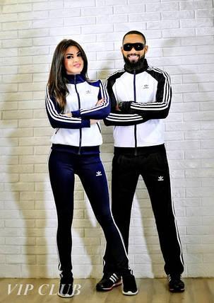 Мужской спортивный костюм на молнии adidas, фото 2