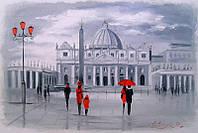 «Прогулка в Риме» картина маслом