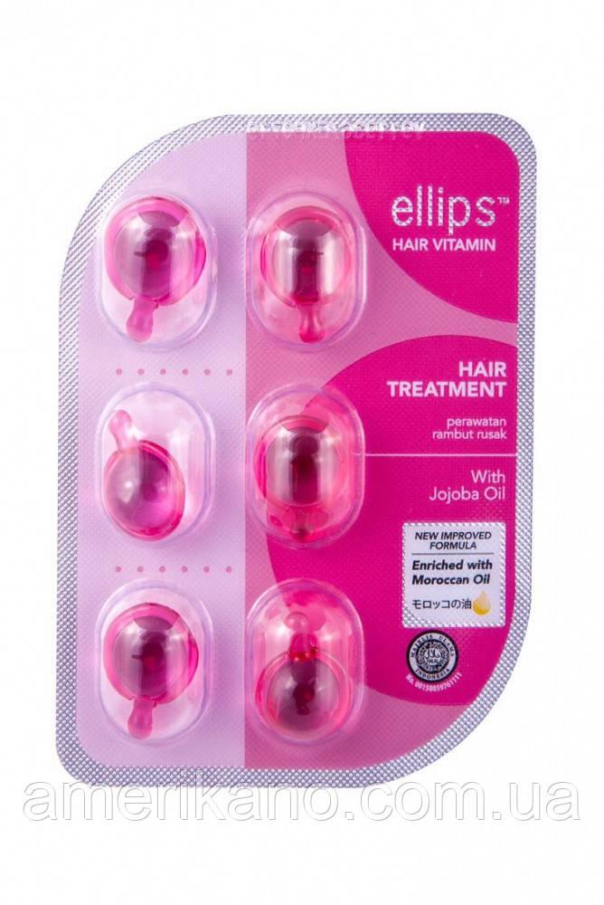 """Витамины для волос """"Терапия для волос"""" с маслом жожоба Ellips Hair Treatment With Jojoba Oil, 6 шт"""