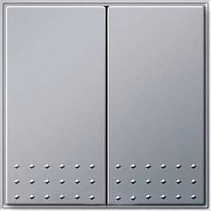 Выключатель двухклавишный Gira TX_44 Алюминий