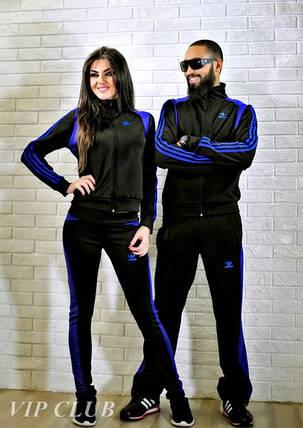 Мужской спортивный костюм на молнии с логотипом adidas, фото 2