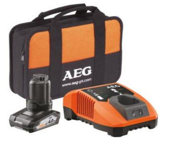 Набор AEG Li1240BL аккумулятор, зарядное устройство и сумка