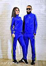 Мужской спортивный костюм на молнии с логотипом adidas, фото 3