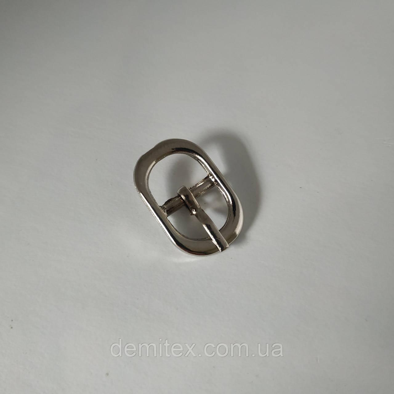 Пряжка взуттєва сандальная 12мм нікель