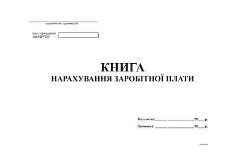 Книга нарахування заробітної плати, офс, 48 арк, фото 2