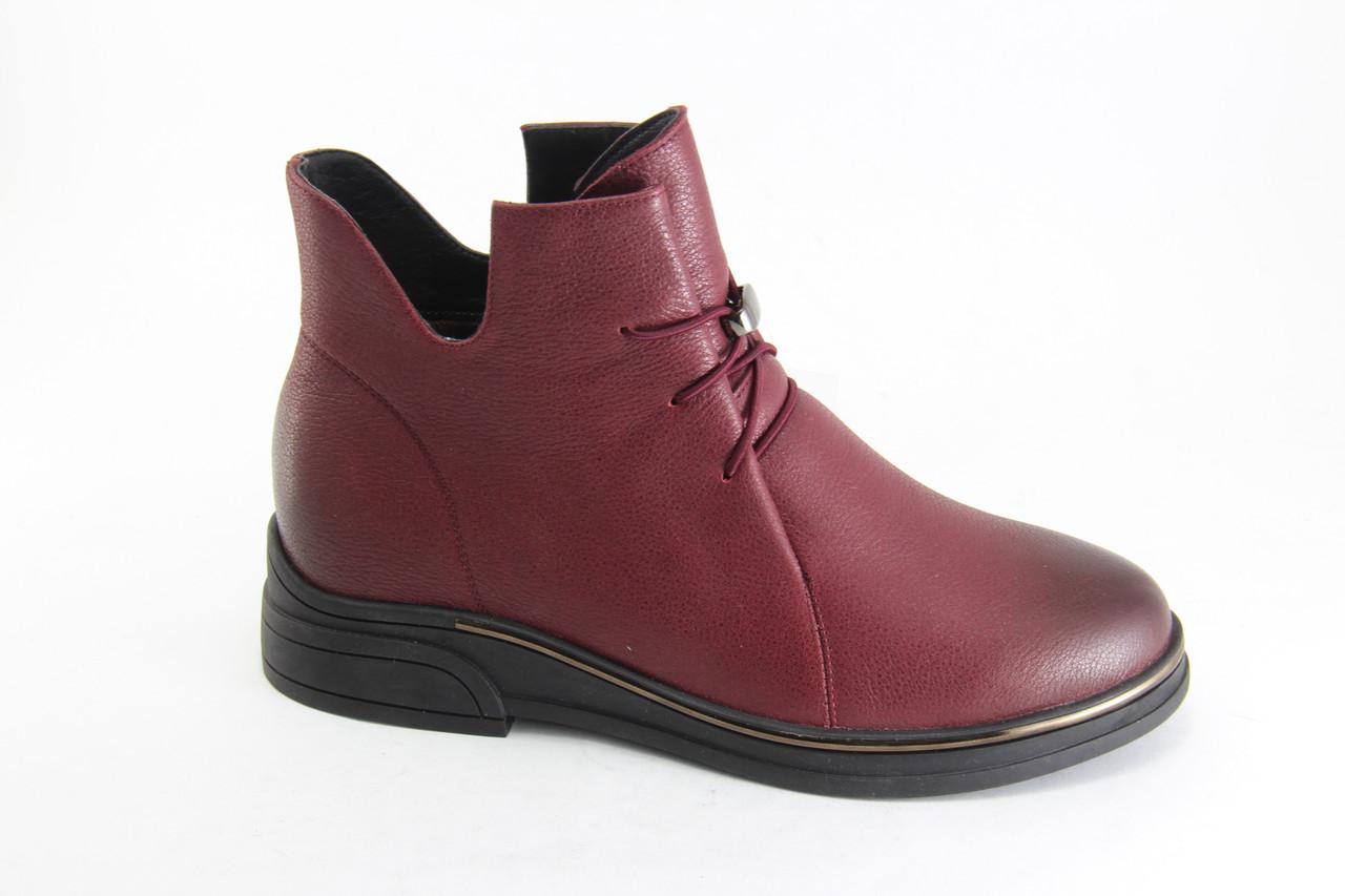 Шкіряні жіночі черевики Battine 25-5-bright-red