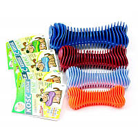 Sum Plast Bone іграшка кістка рифлена для чищення зубів з запахом ванілі для собак, №1 (12см)