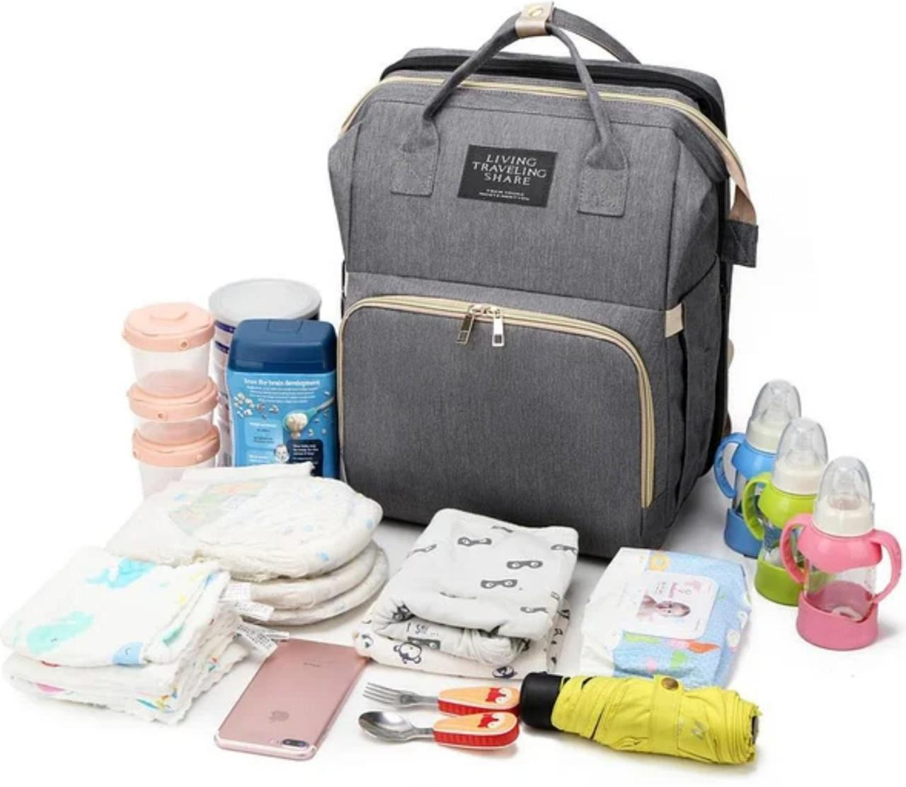Рюкзак органайзер для мам Living Traveling Share c термокарманамі для пляшечок