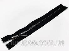 Молния Металл  тип 3 (18 см) темный никель (опт и розница)