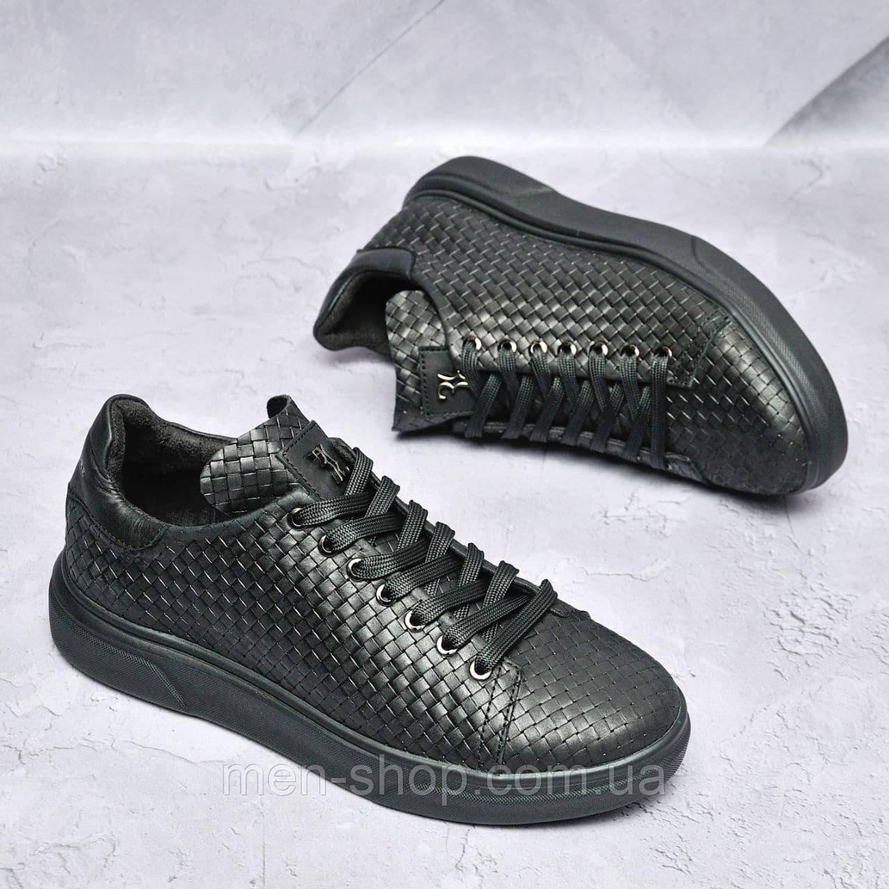 Чоловічі шкіряні туфлі Чорні Billionaire