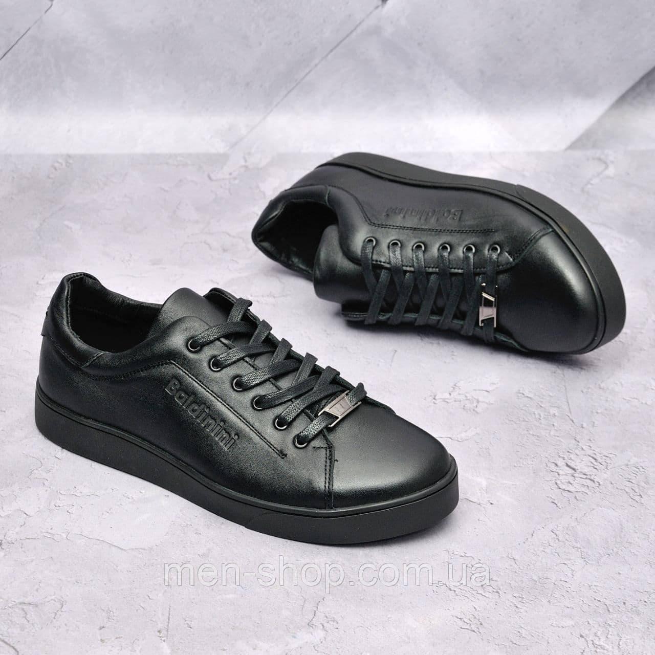 Мужские кожаные туфли Billionaire Черные