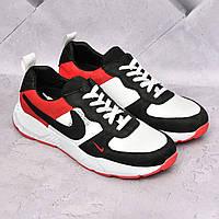 Мужские кожаные кроссовки Nike Air, фото 1