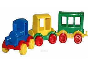 Паровозик Kid cars 3шт, в кор 32х9х9см арт.39260 ТМ Вадер