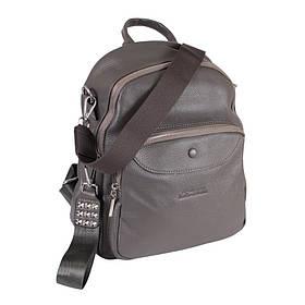 Сумка-рюкзак шкіряні de esse Сіра