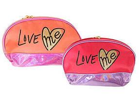 Косметичка Love me напівкругла, з підкладкою, 4 кольори 13725 ТМ 01TOYS