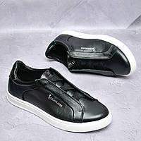 Чоловічі шкіряні туфлі Чорні Billionaire, фото 1