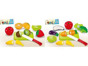 Овочі і фрукти, діляться навпіл, з дощечкою, ножем 666-17/19 ТМ 01TOYS