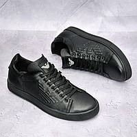 Мужские кожаные кеды Armani, фото 1