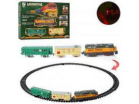 Дорога залізна 79-79см, локомотив 17см, вагон 2шт, звук 19059-1 ТМ ABTOYS