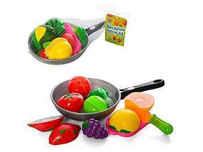 Продукти на липучці, дощечка, ніж у сковорідці, 2 віді 3013 C ТМ ABTOYS