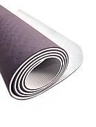 Коврик для йоги TPE  183 х 61 х 0,6 см 2-х слойный, фото 5
