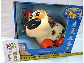 Іграшка собака-конструктор музика розвиваюча на батарейці 628D ТМ ABTOYS