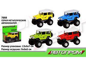 Машина метал АВТОПРОМ , 1: 50,4 кольору, 12 * 7 * 6 см 110118 ТМ BESTTOYS