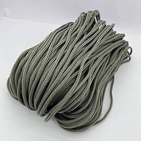 Полиэфирный шнур для вязания сумочек и рюкзаков без сердечника 4 мм 100 м (серый)127