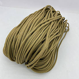 Полиэфирный шнур для вязания сумочек и рюкзаков без сердечника 4 мм 100 м (бежевый)127
