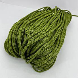 Полиэфирный шнур для вязания сумочек и рюкзаков без сердечника 4 мм 100 м (оливковый)127