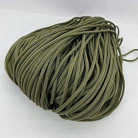 Полиэфирный шнур для вязания сумочек и рюкзаков без сердечника 4 мм 100 м (хаки)127