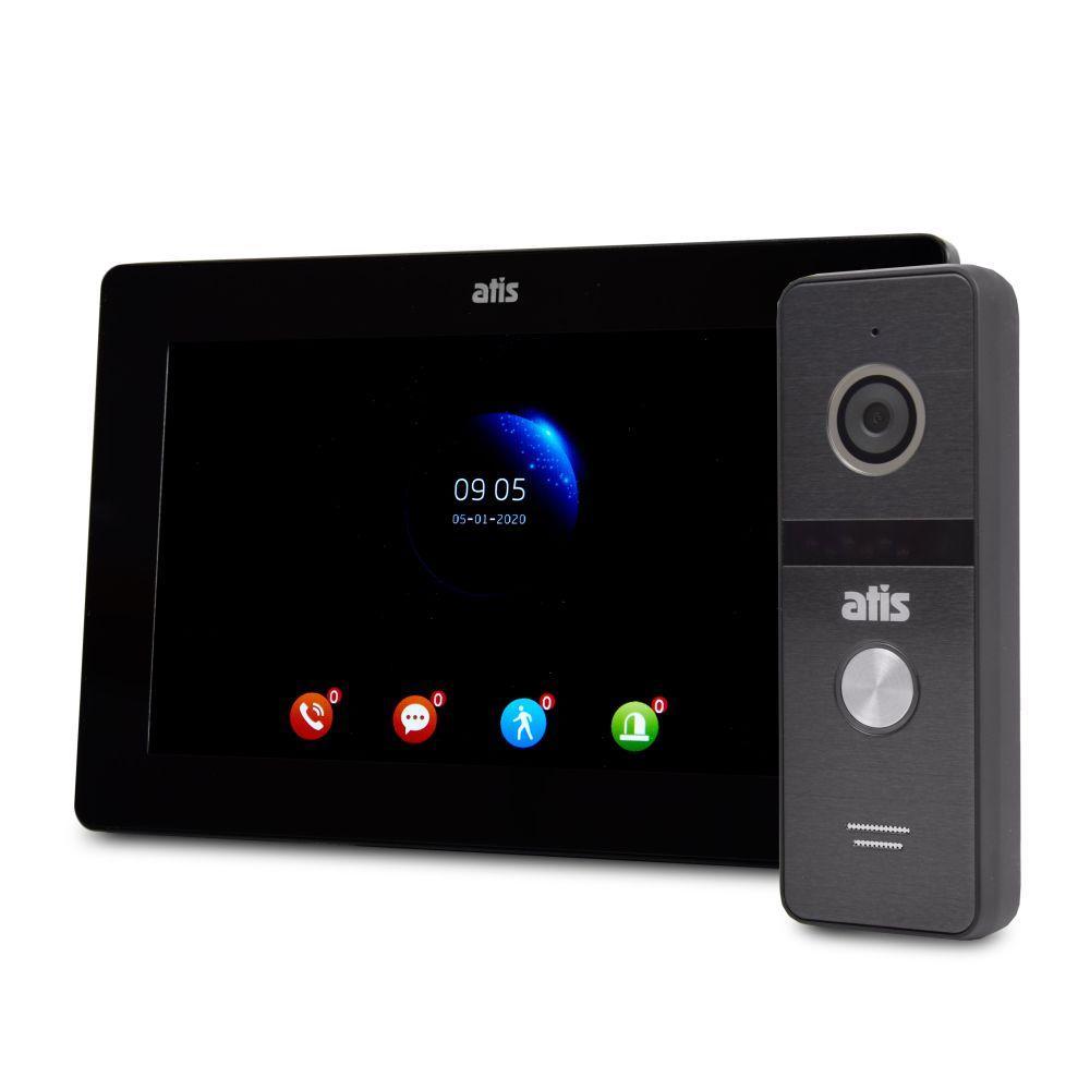 Комплект відеодомофона ATIS AD-770FHD Black + AT-400FHD Black