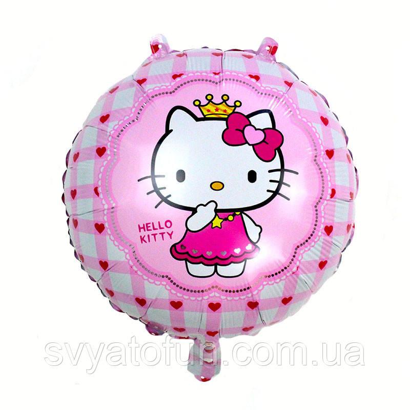 "Фольгований куля коло Hello Kitty 18"" Китай"