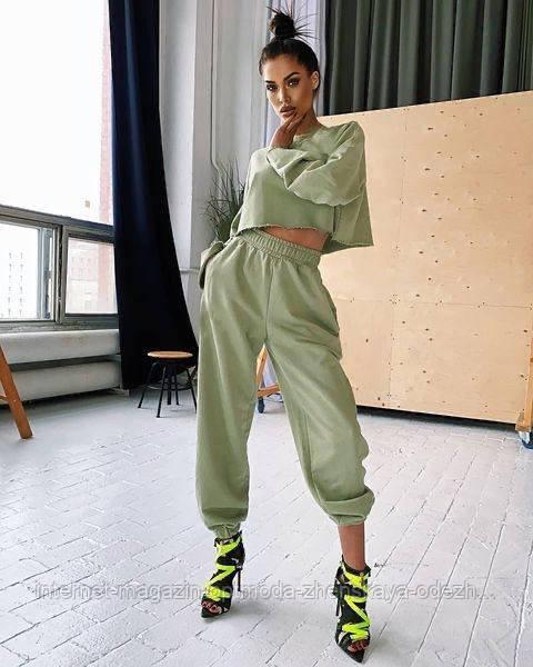 Деловые и повседневные костюмы -  оптом - №11456-св - Стильный прогулочный женский костюм
