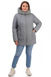 Зимова тепла жіноча куртка великих розмірів
