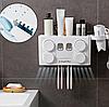 Автоматичний диспансер для зубної пасти 4 в 1 / Утримувач для зубної щітки, фото 6