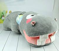 М'яка іграшка Бегемот, плюшевий бегемотик, 70 див., фото 1
