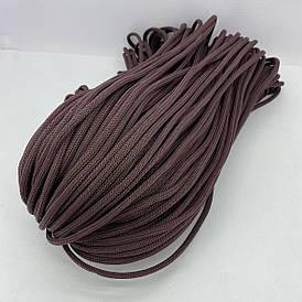Полиэфирный шнур для вязания сумочек и рюкзаков без сердечника гладкий 5 мм 100 м (коричневый)128