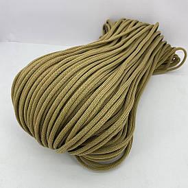 Полиэфирный шнур для вязания сумочек и рюкзаков без сердечника гладкий 5 мм 100 м (хаки)128