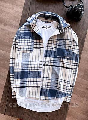 Рубашка мужская в клетку молодежная хлопковая