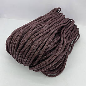 Полиэфирный шнур без сердечника зернистый 5 мм 100 м (коричневый)128