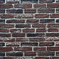 Декоративная 3Д-панель стеновая Красный Кирпич (самоклеющиеся 3d панели для стен оригинал) 700x770x7 мм