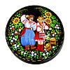 Шкатулка круглая , миниатюрная сюжетная роспись